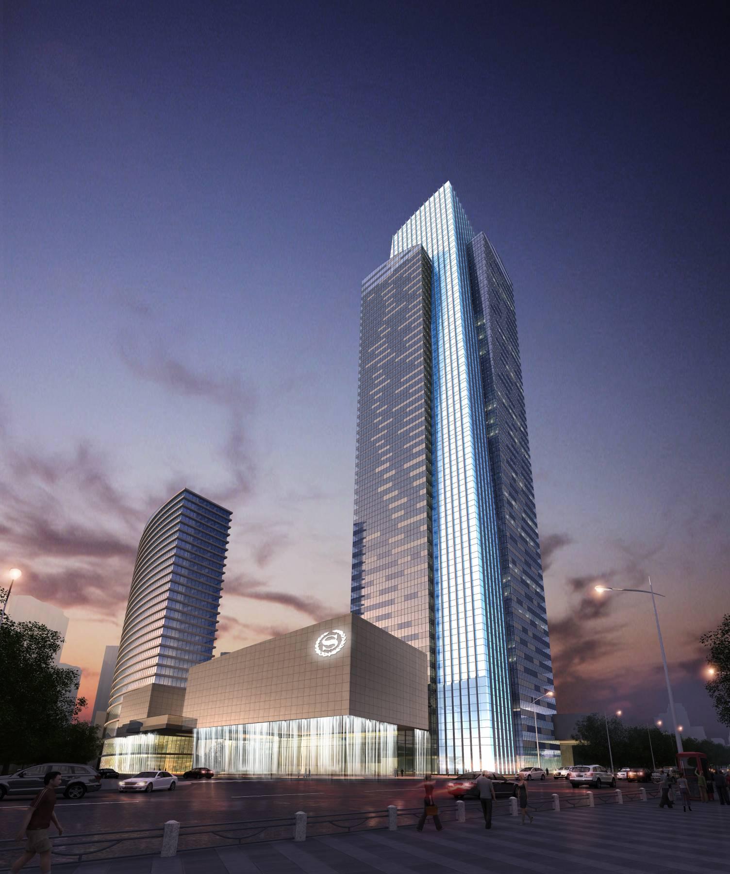 现代超高层综合办公楼
