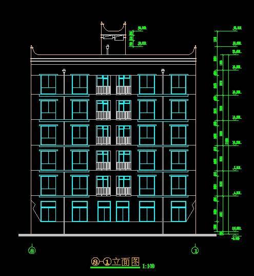 现代风格商住宅平立剖全