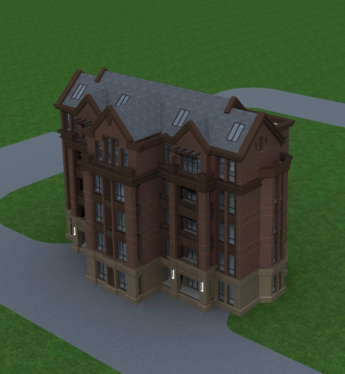 英式多层住宅楼