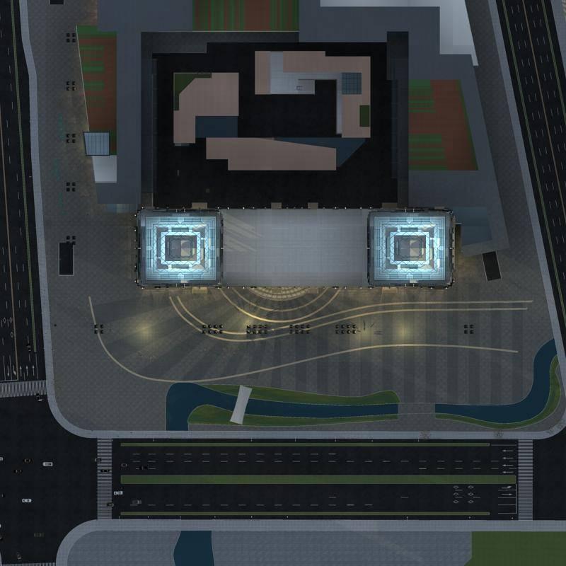双塔式超高层办公楼