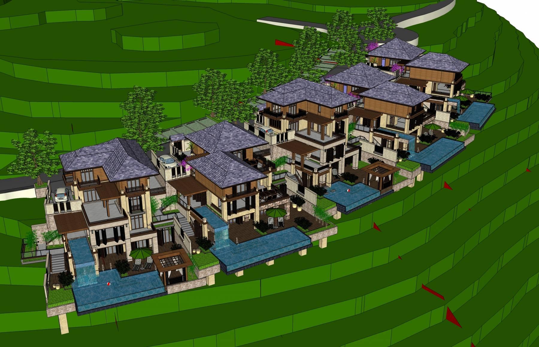 东南亚风格坡地度假别墅