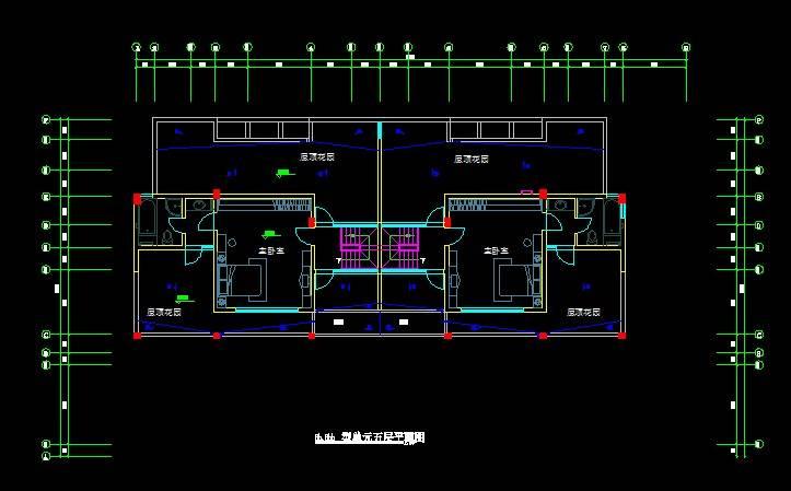 单体洋房平面图