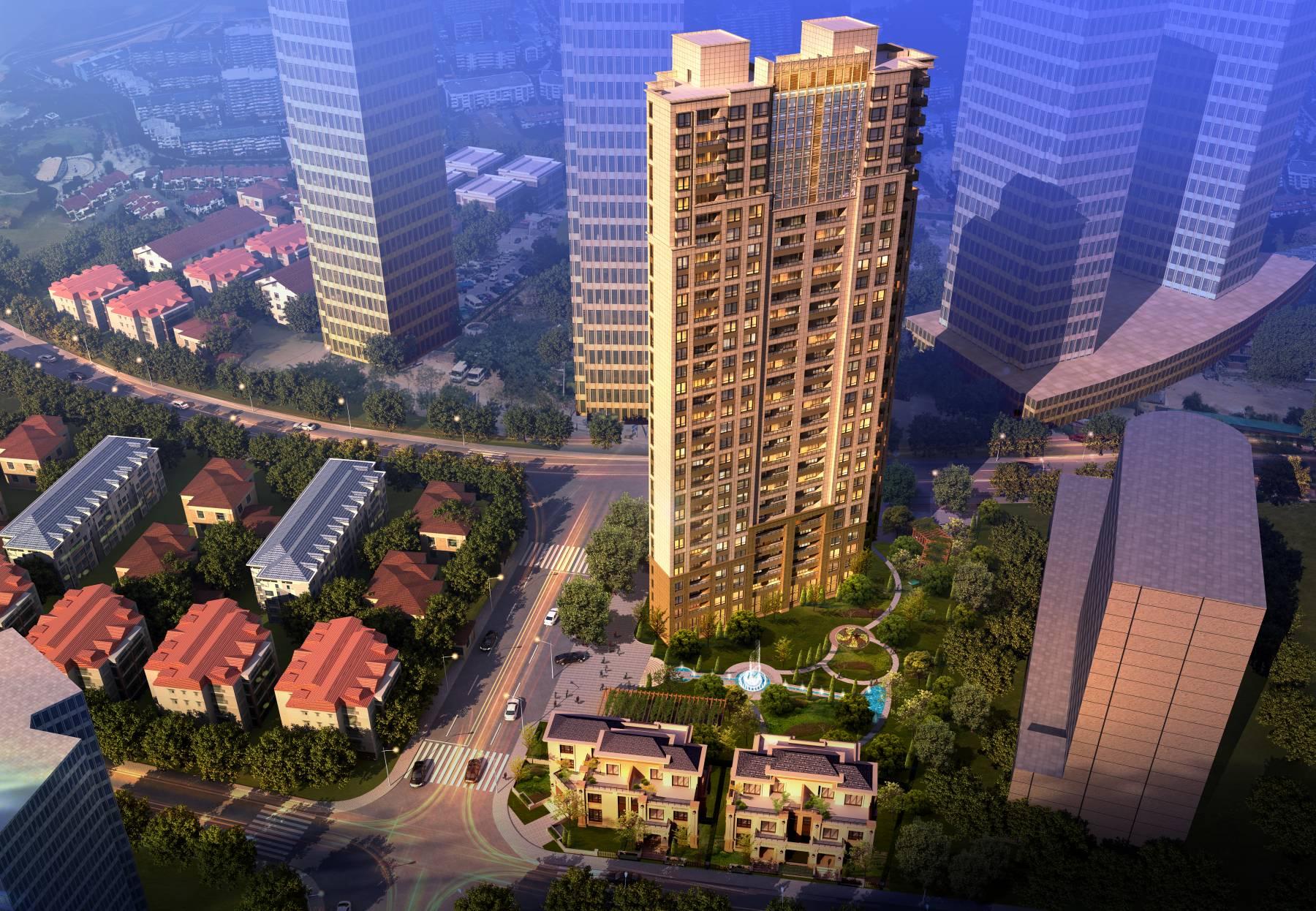 现代高层住宅公寓