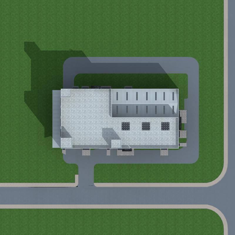 现代多层厂房单体