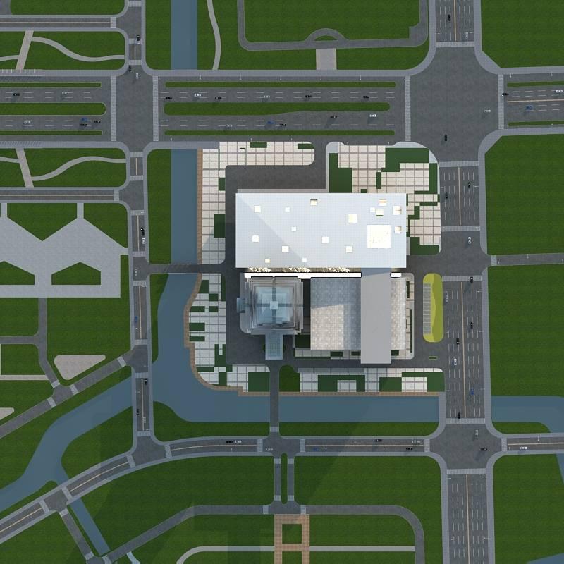 现代超高层商业综合楼方案二