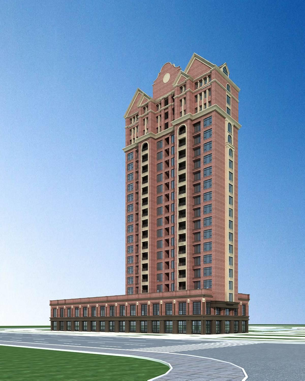 英式高层商业住宅楼