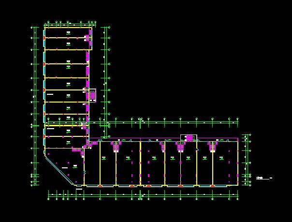 现代风格B型多层商住楼