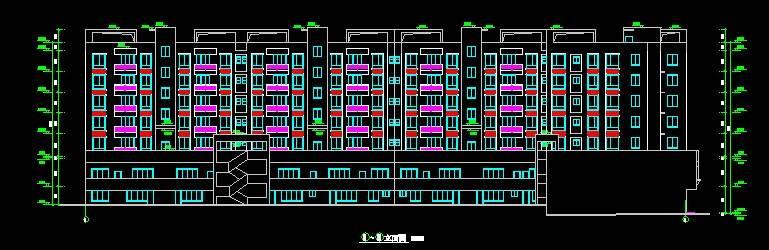 现代风格A型多层商住楼