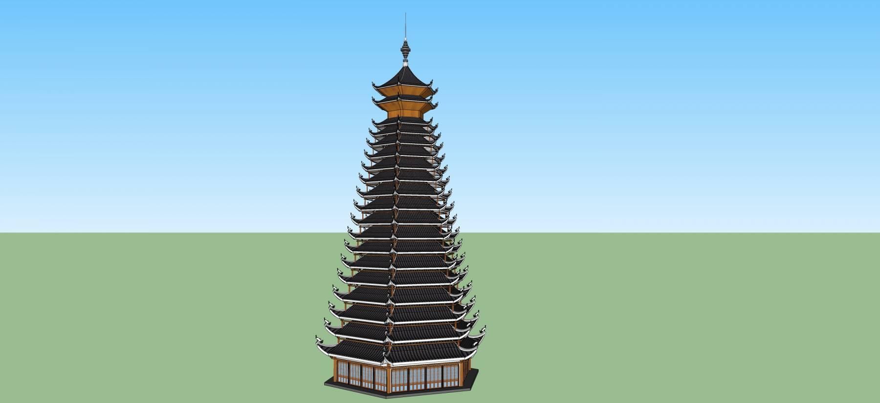 中式风格塔