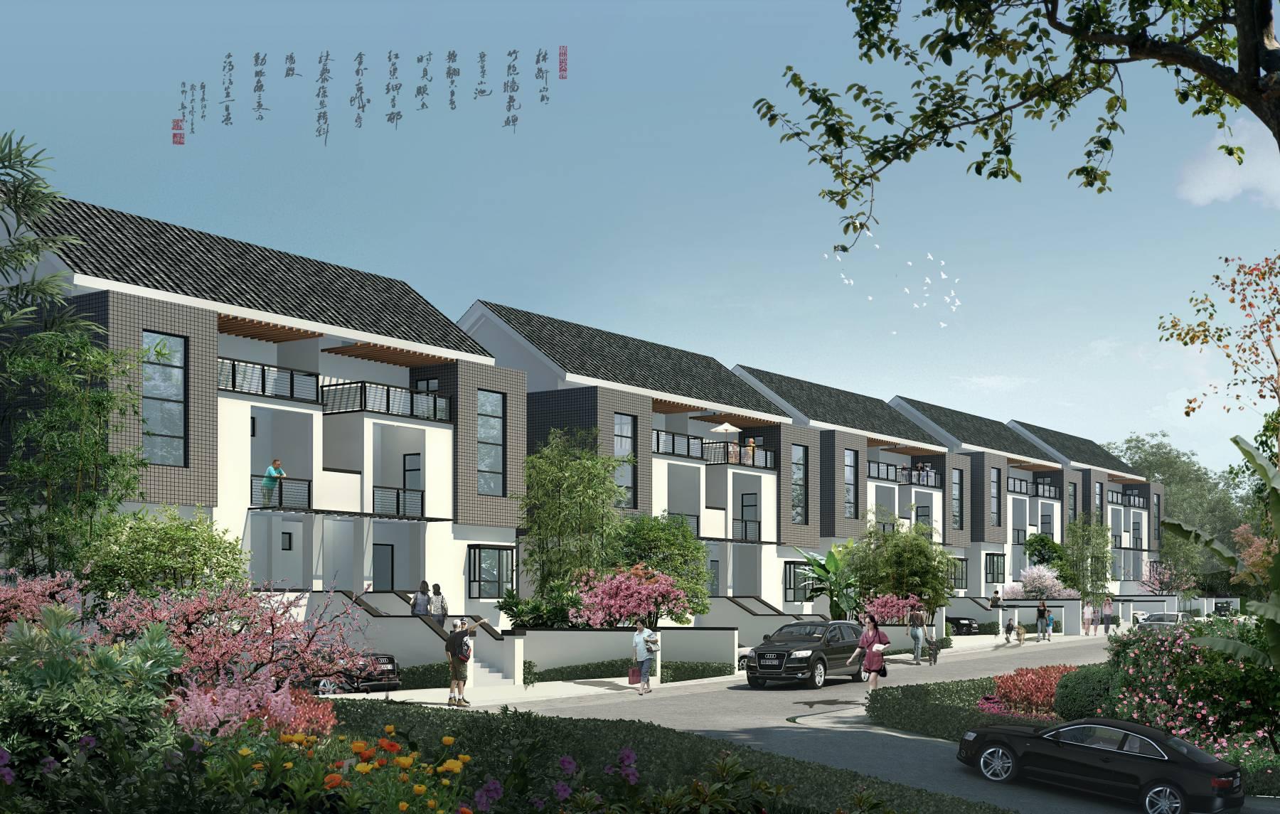 现代中式住宅小区