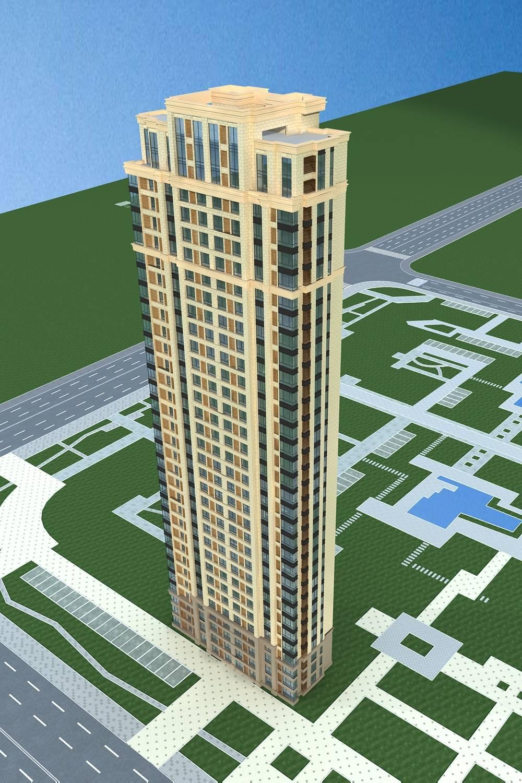简欧风格高层住宅楼