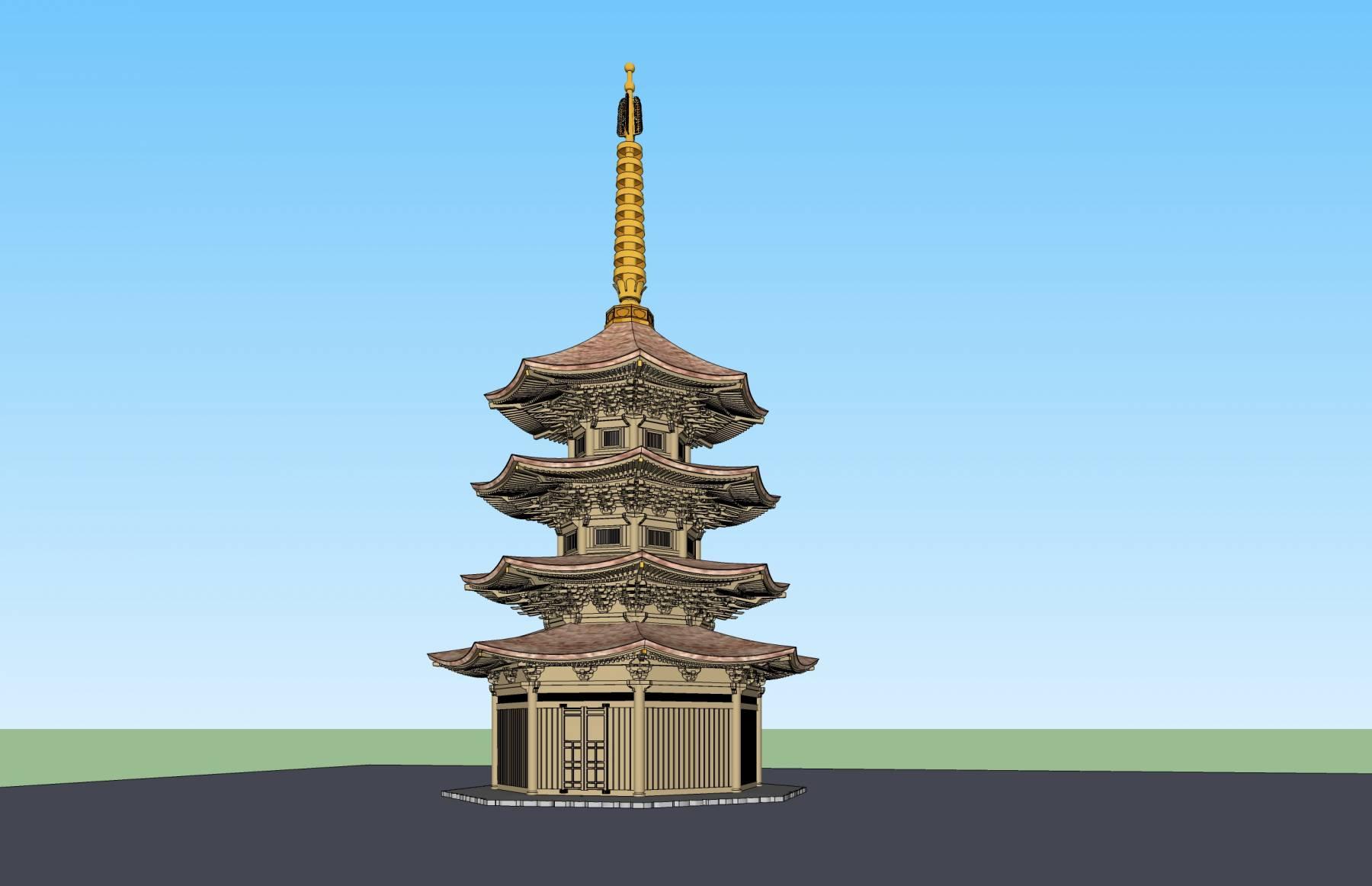 日式景观塔
