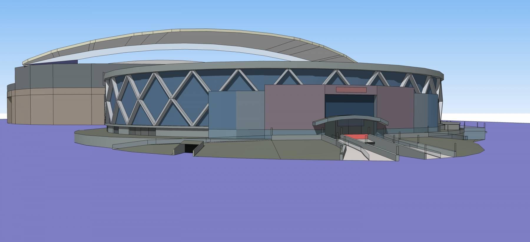 现代风格体育场
