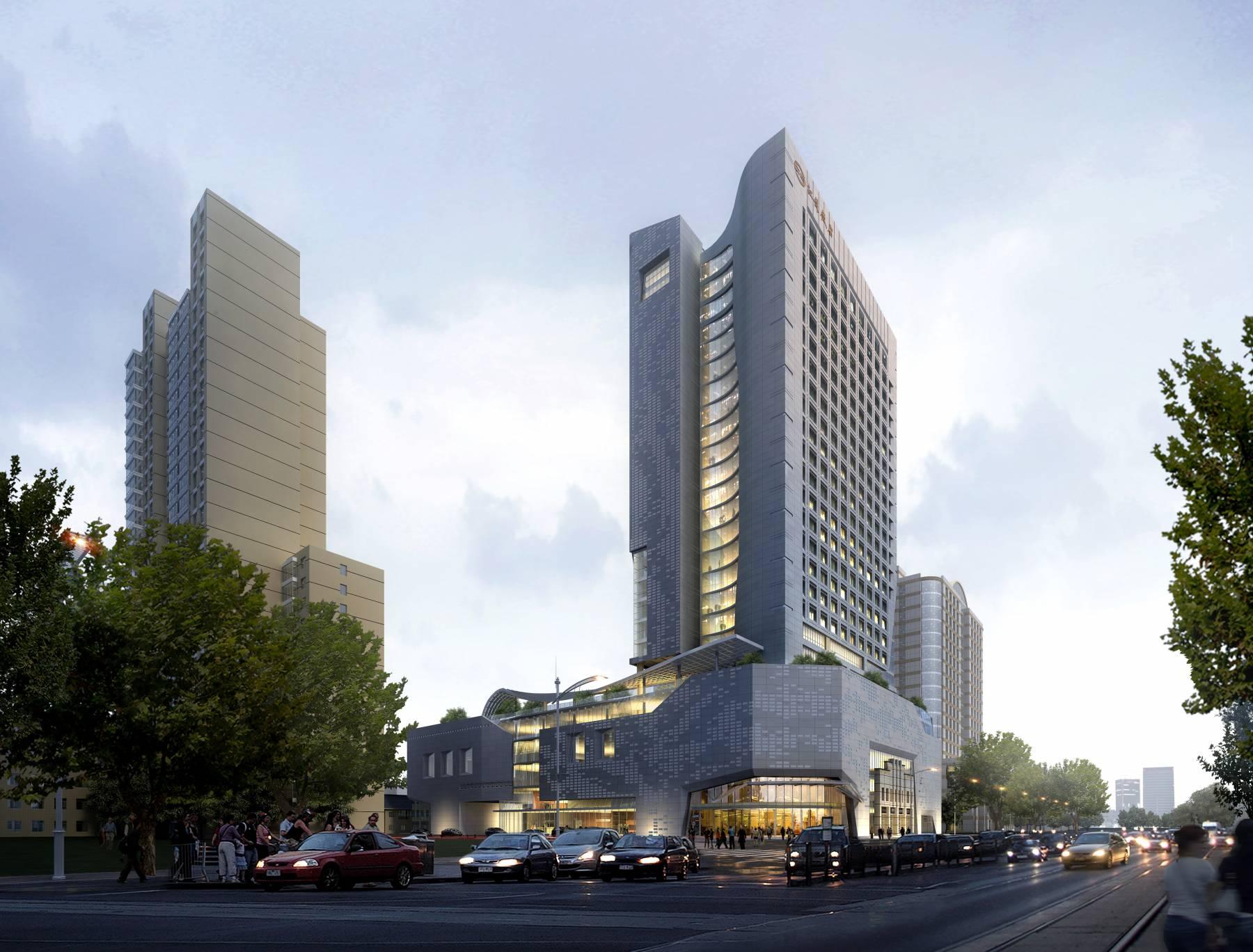 现代高层商业酒店