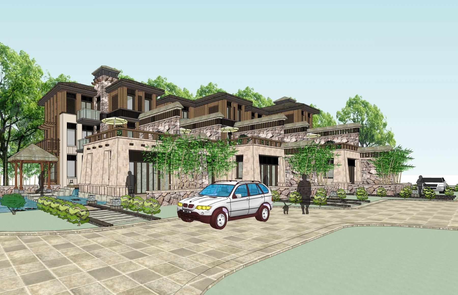 东南亚风格联排别墅