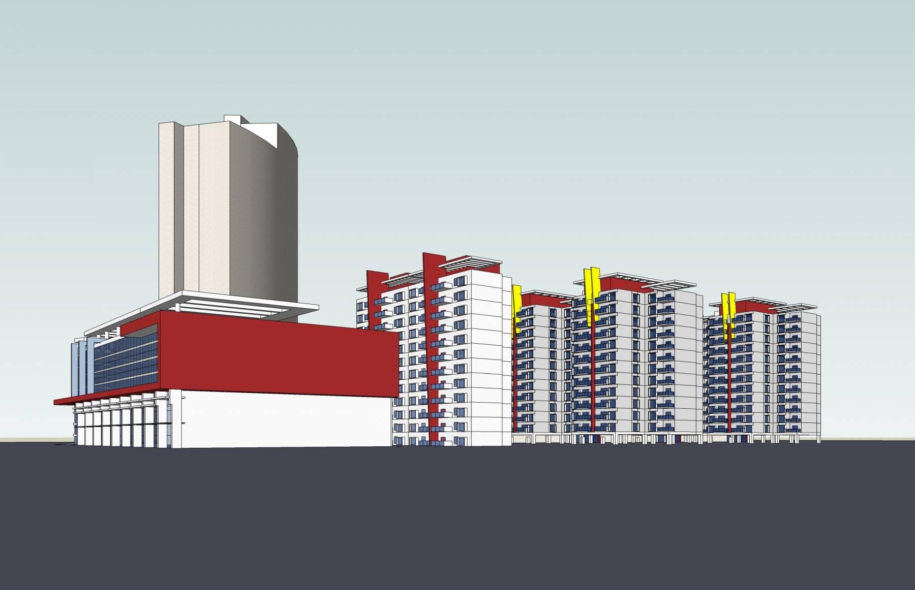 现代综合商业住宅小区