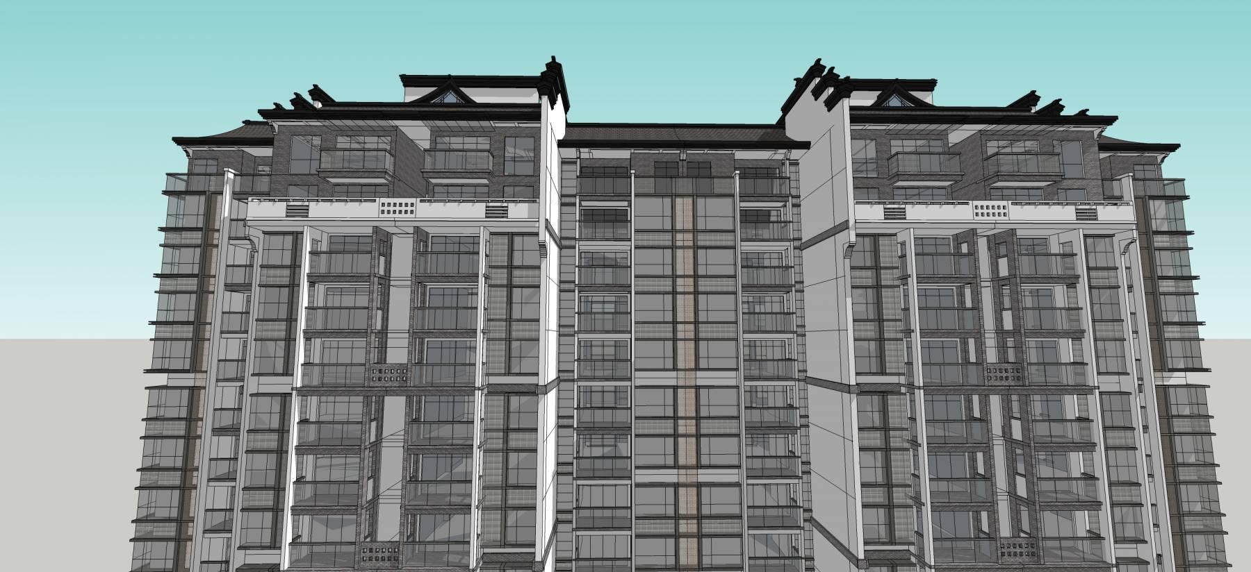 新中式高层住宅