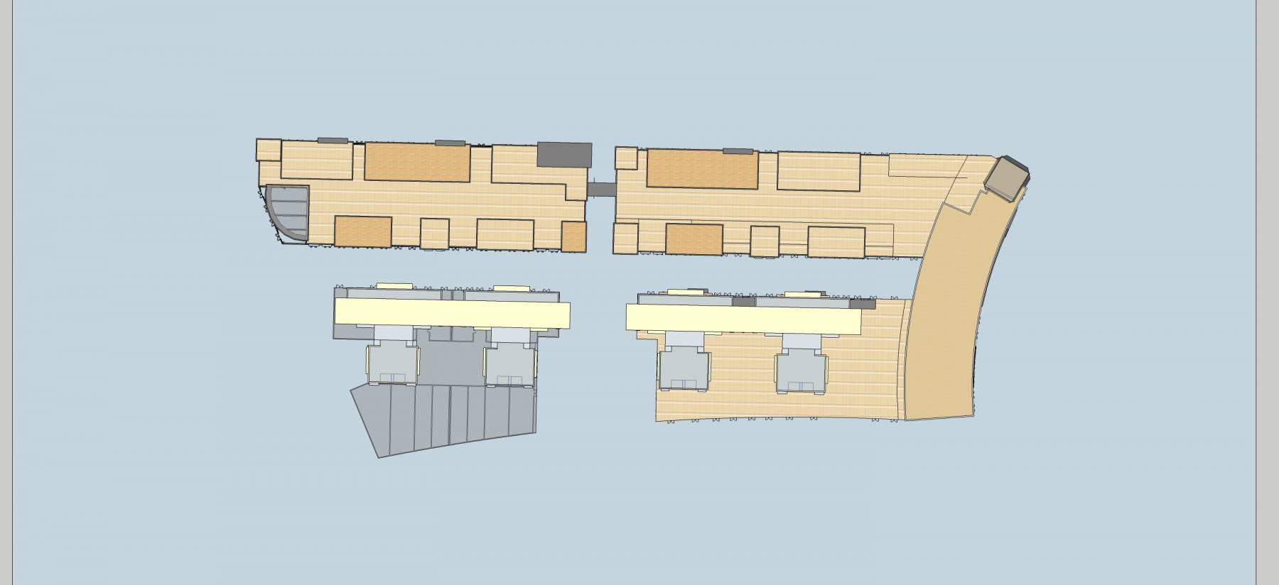 现代商业住宅楼