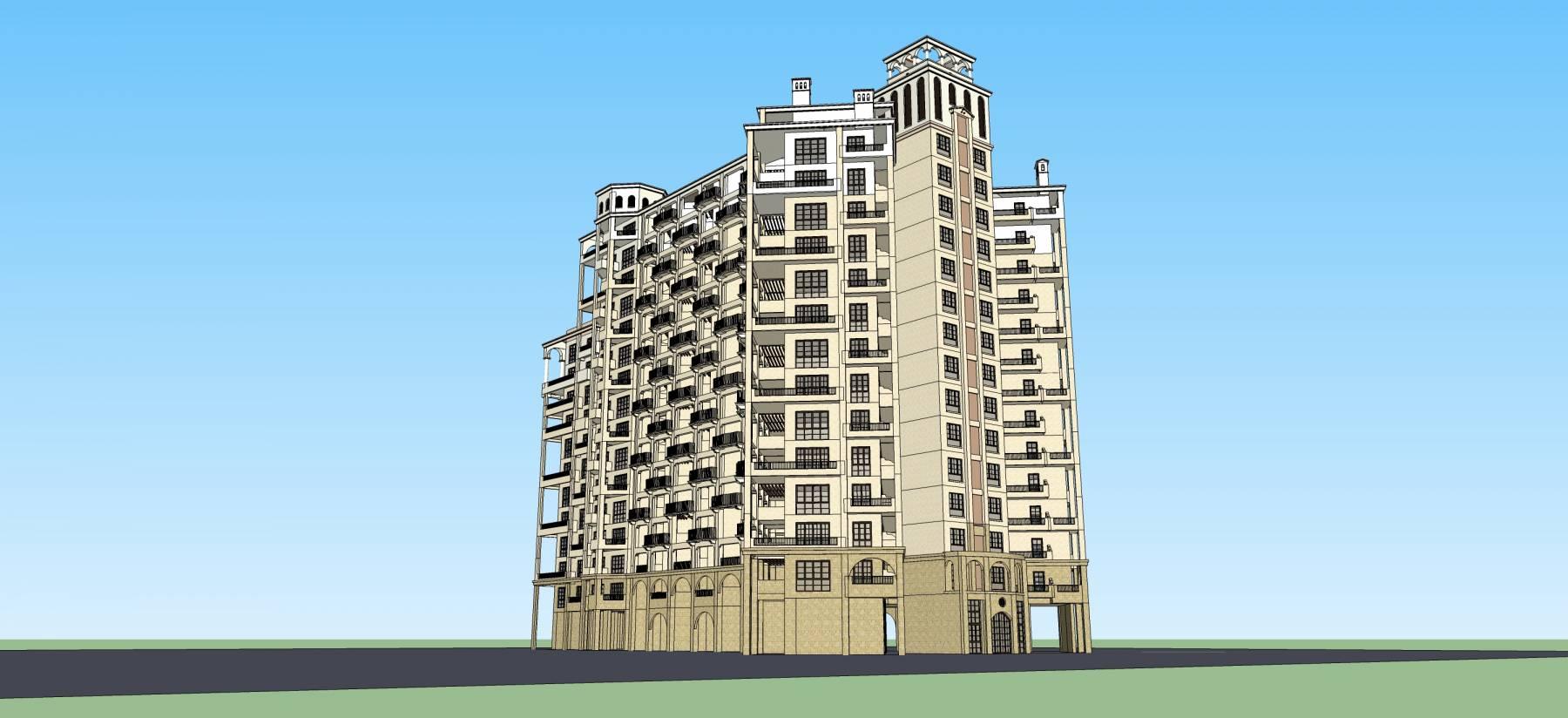 欧式高层公寓