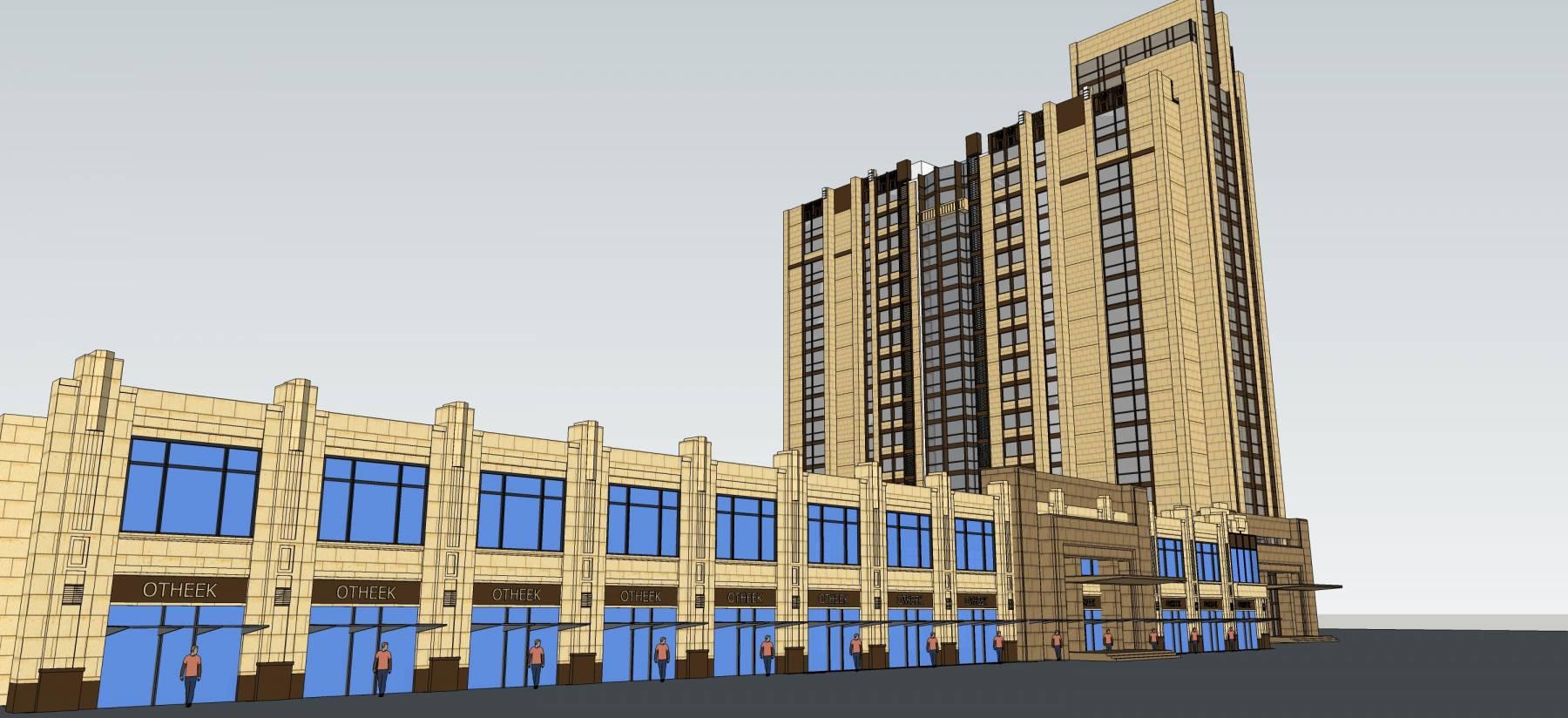 古典风格高层住宅带商业