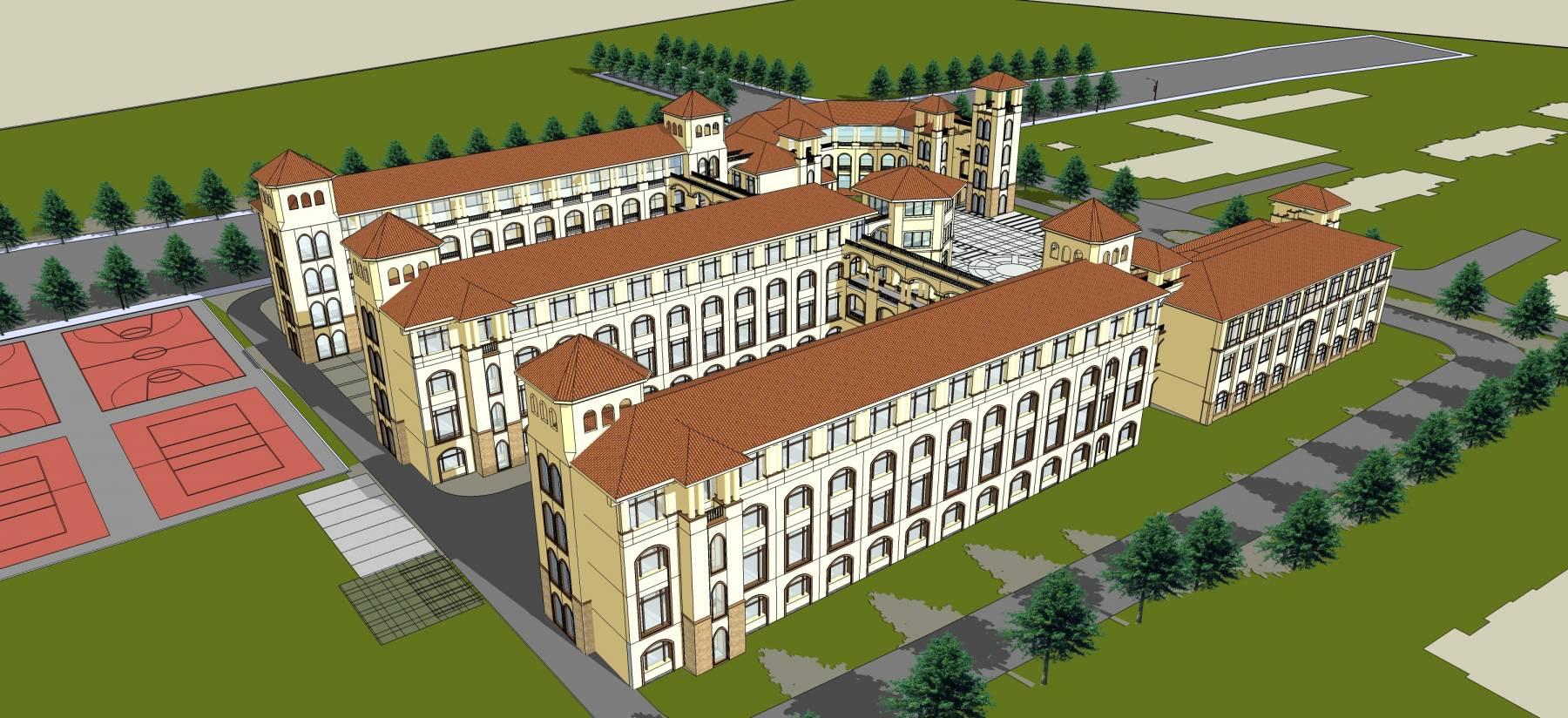 欧式风格学校