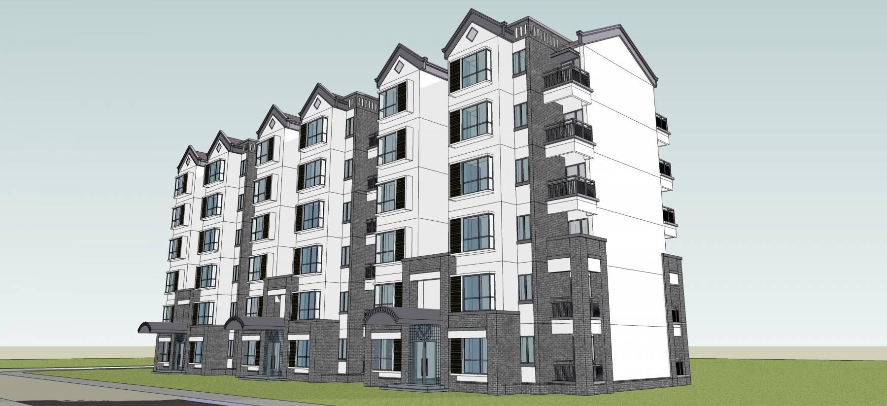 新中式多层住宅