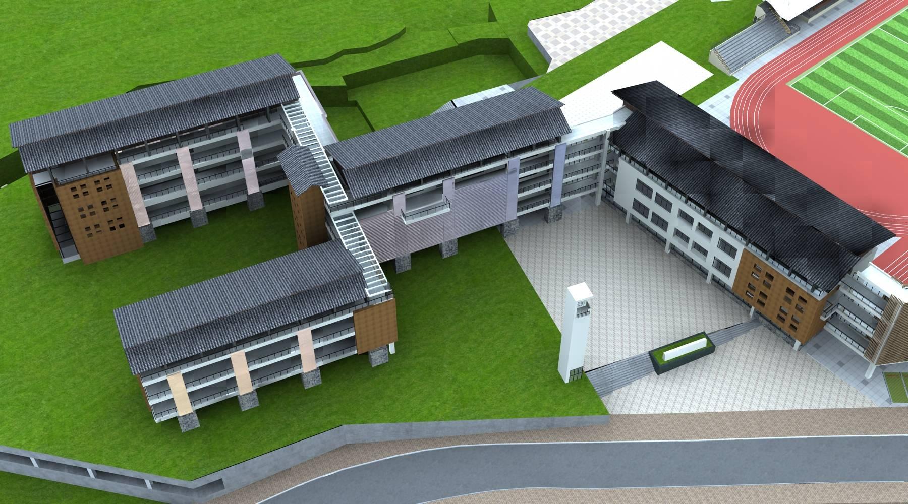 中式多层教学楼