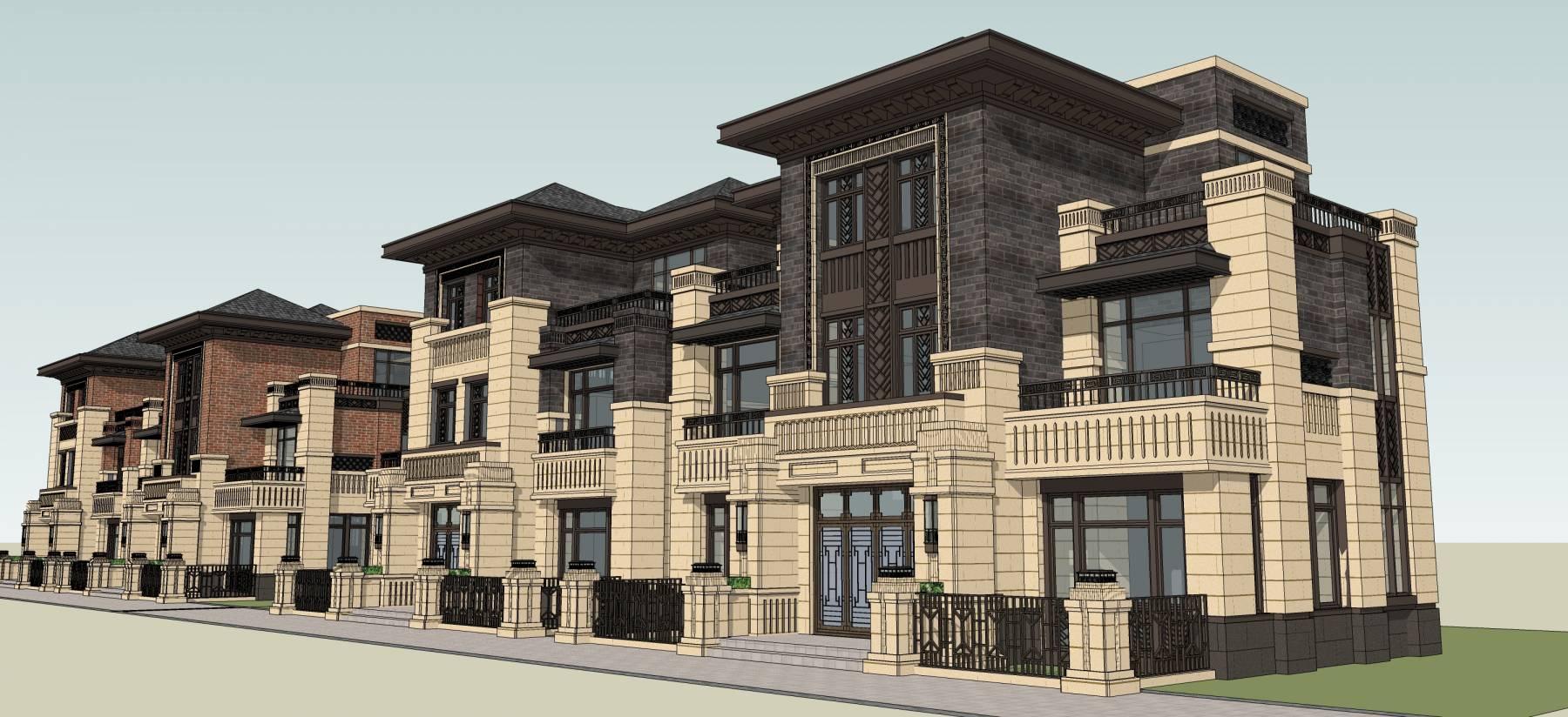 古典风格风格双拼别墅