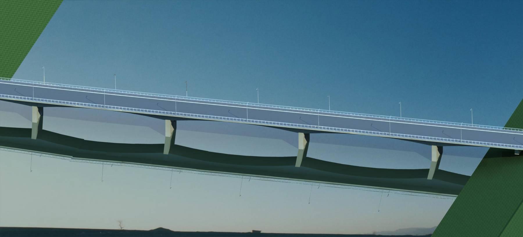尹家湖大桥方案二