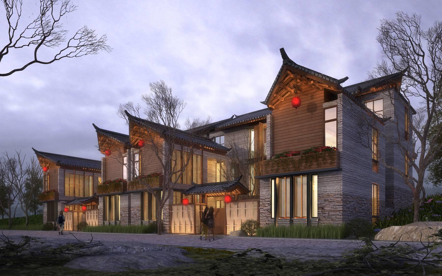 中式联排别墅