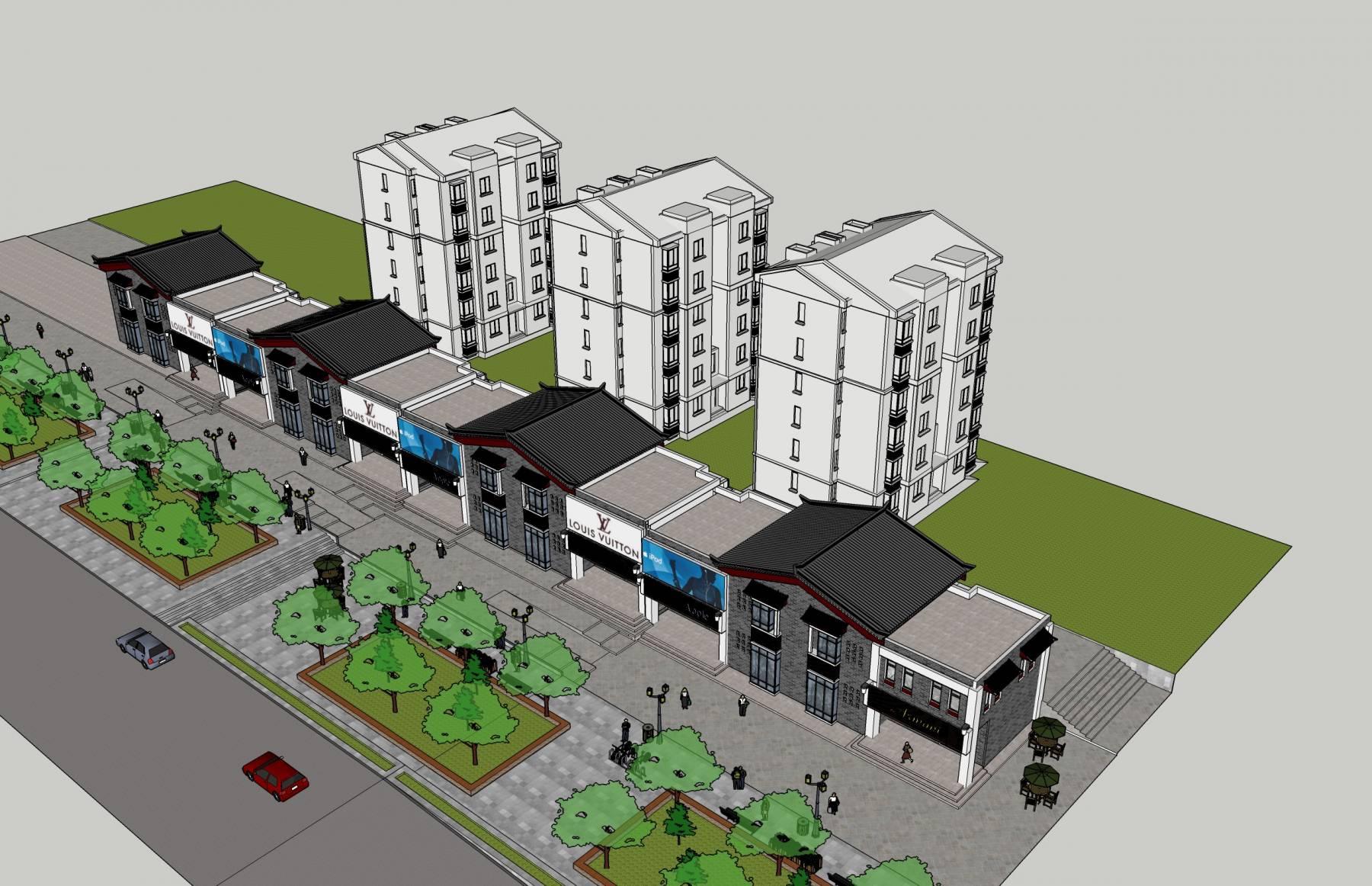 临街商业及住宅楼