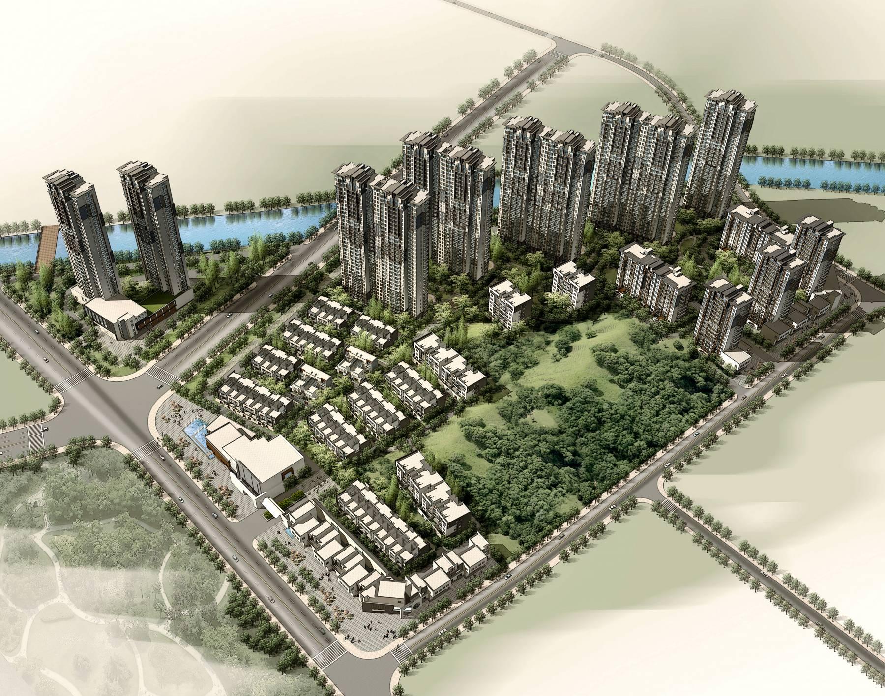 新中式商业住宅小区
