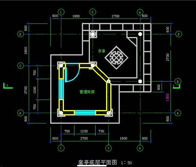 中式门卫室小亭