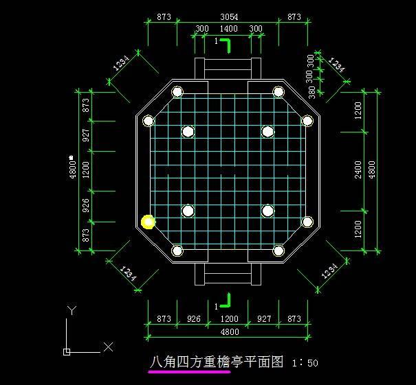 中式八方重檐亭