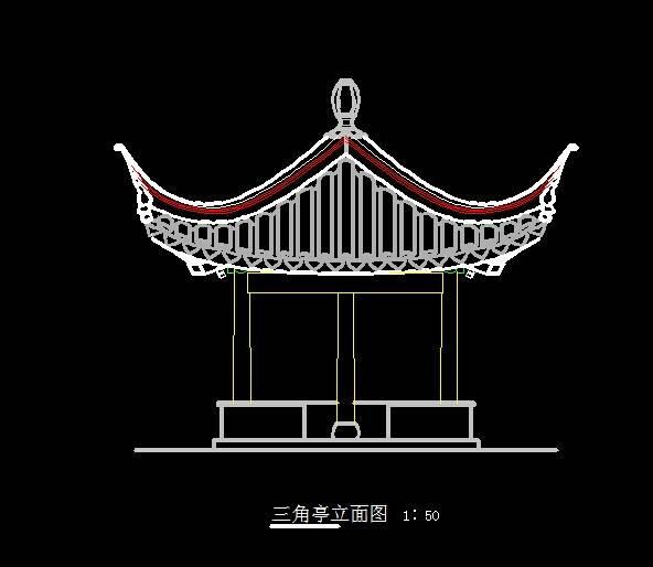 中式三角亭