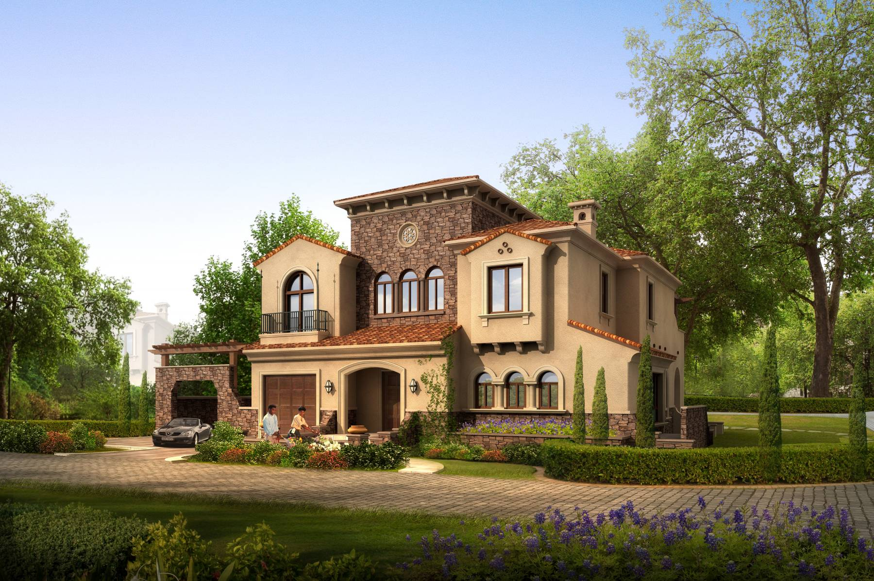西班牙风格独栋别墅