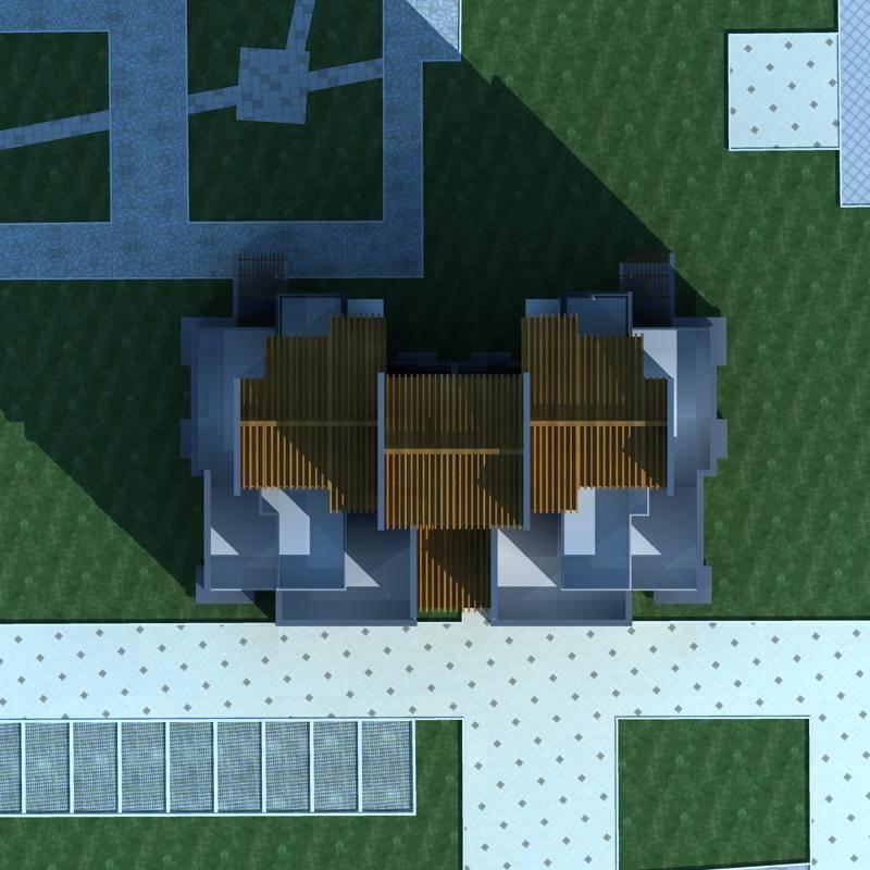 新中式高层住宅楼