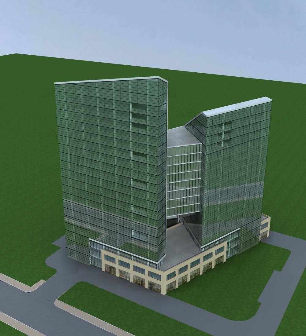 现代高层商业办公楼
