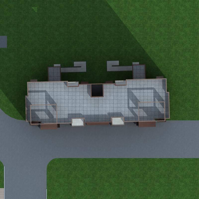 现代多层住宅楼