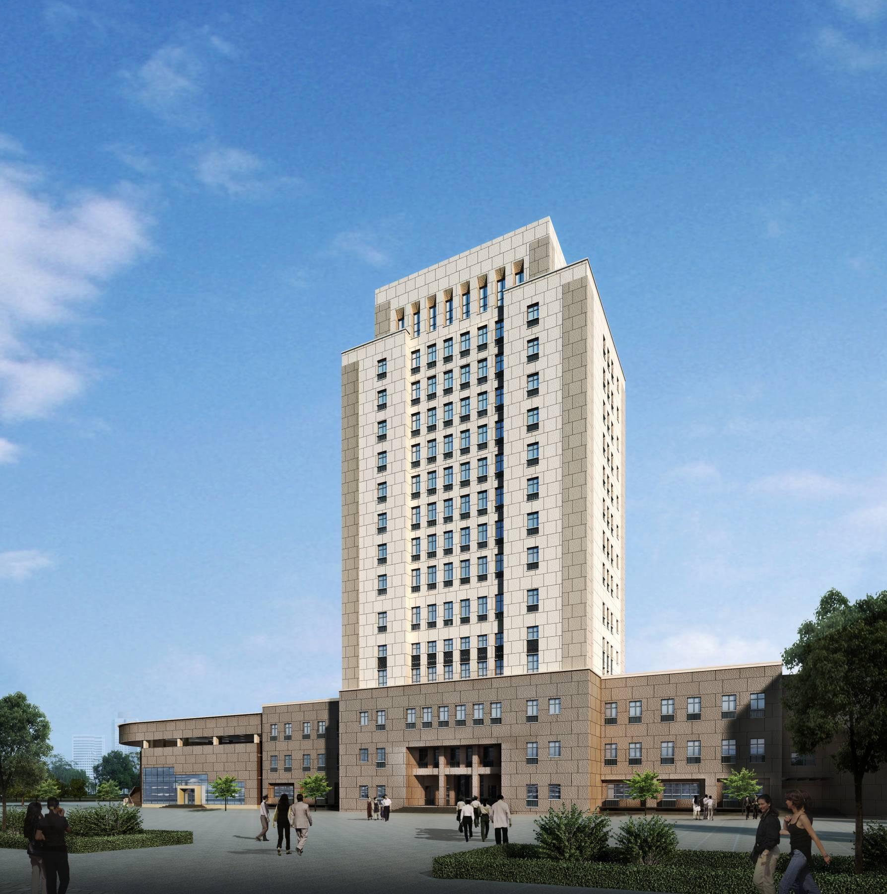 现代高层办公楼方案一
