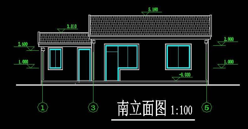 新中式住宅平立剖全