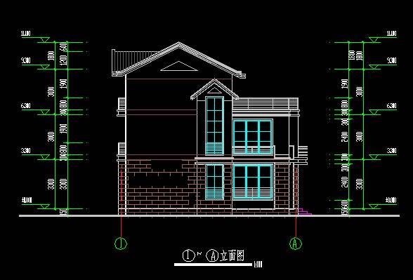 新中式独栋别墅平立剖全