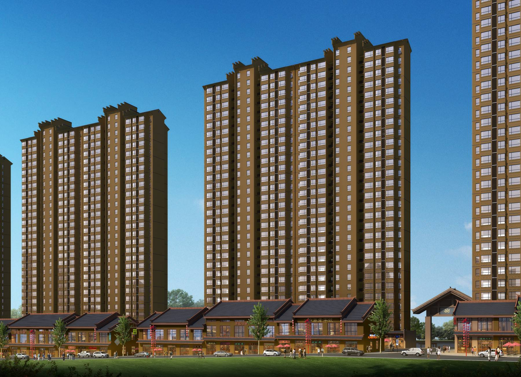 中式商业住宅楼
