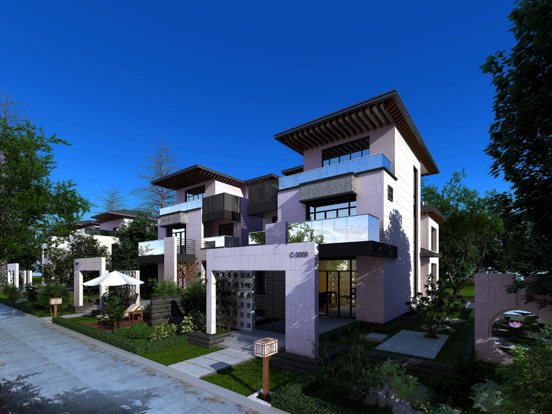 新中式联排别墅
