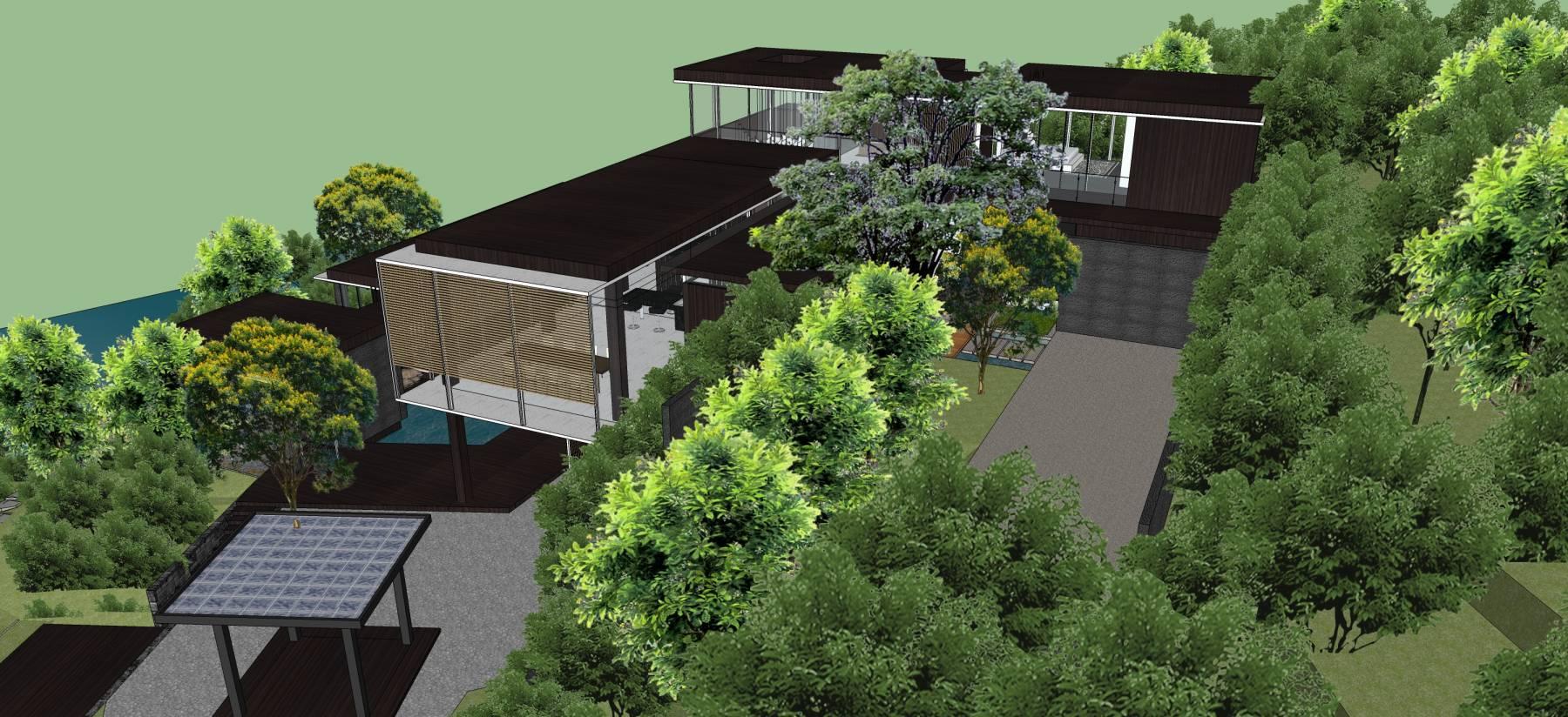 新中式风格别墅带景观