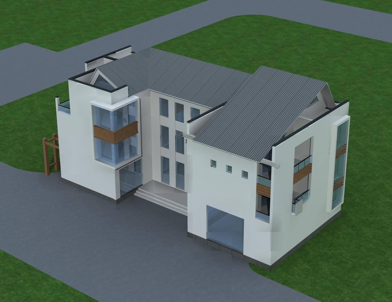 现代中式独栋别墅