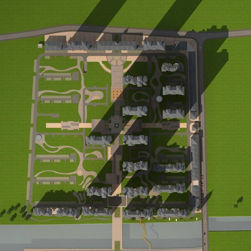 欧式商业住宅小区