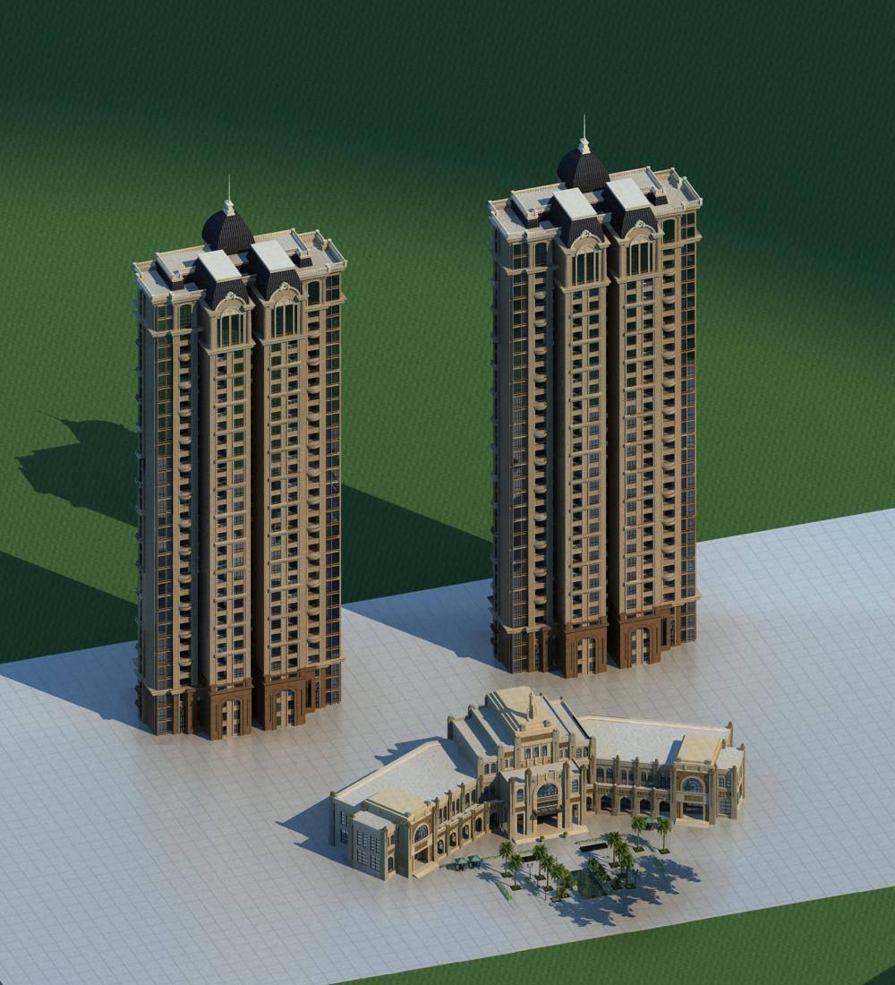 欧式会所及住宅楼
