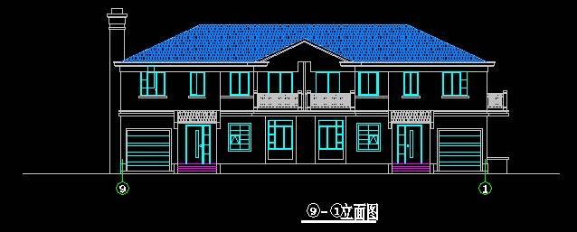 欧式风格双拼别墅