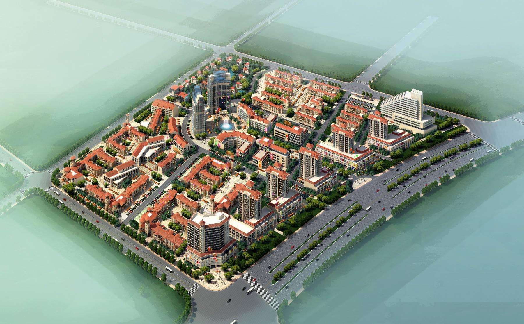 欧式商业住宅规划